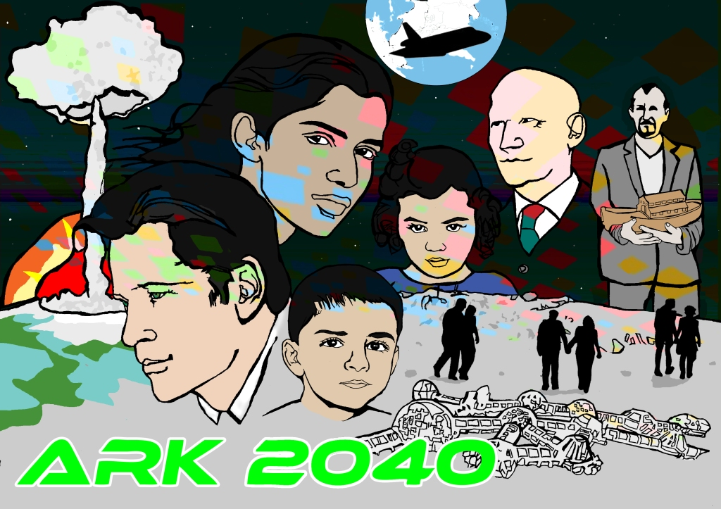 Ark 2040 poster | Illustration by Natalie Knowles