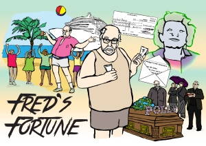 Fred's Fortune Poster   Illustration by Natalie Knowles
